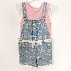 New Little Lass Denim Overall Outfit